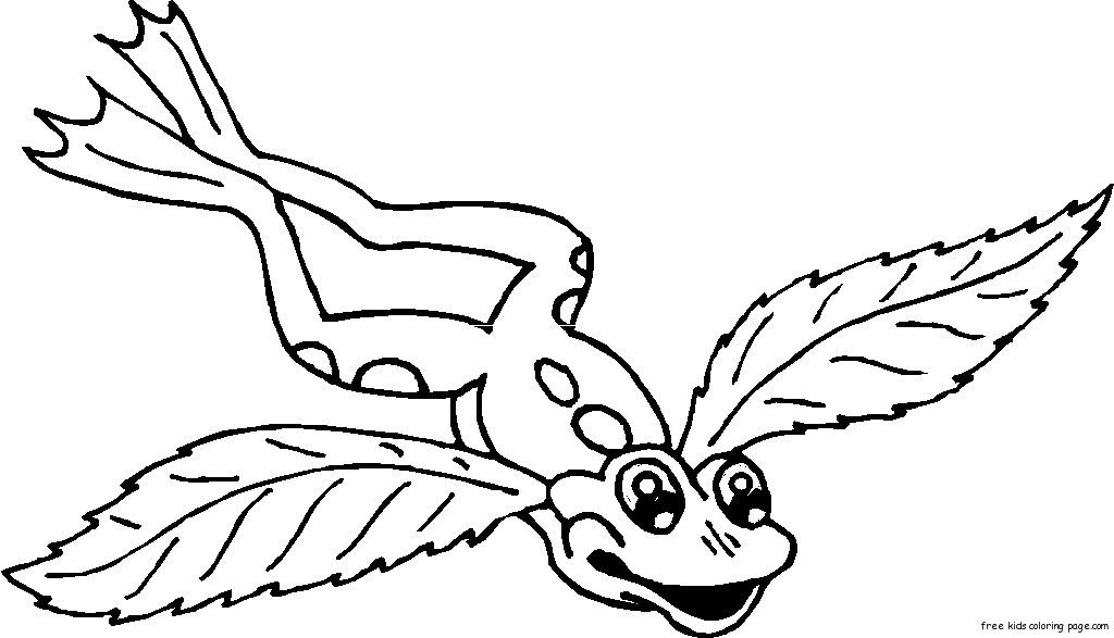 1024x587 Frog Angel Wings Tattoo Coloring Pages For Free Printable Bebo