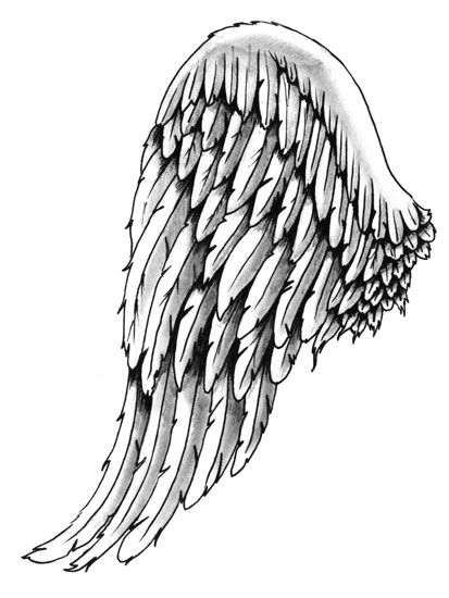 413x550 Like This Style Wing. ) Angel Wings Tattoo Wings