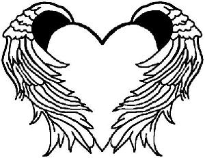300x231 Wings Heart Cliparts