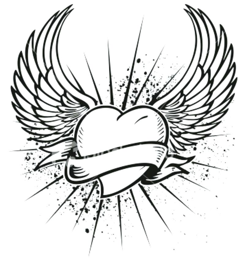 800x852 Angel Wings Pictures Color Pin Colors Wing 2 Coloring Pages Online