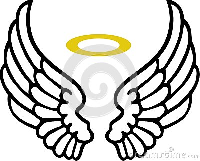 400x322 Angel Wings With Halo Drawings Free Clip Arts Sanyangfrp
