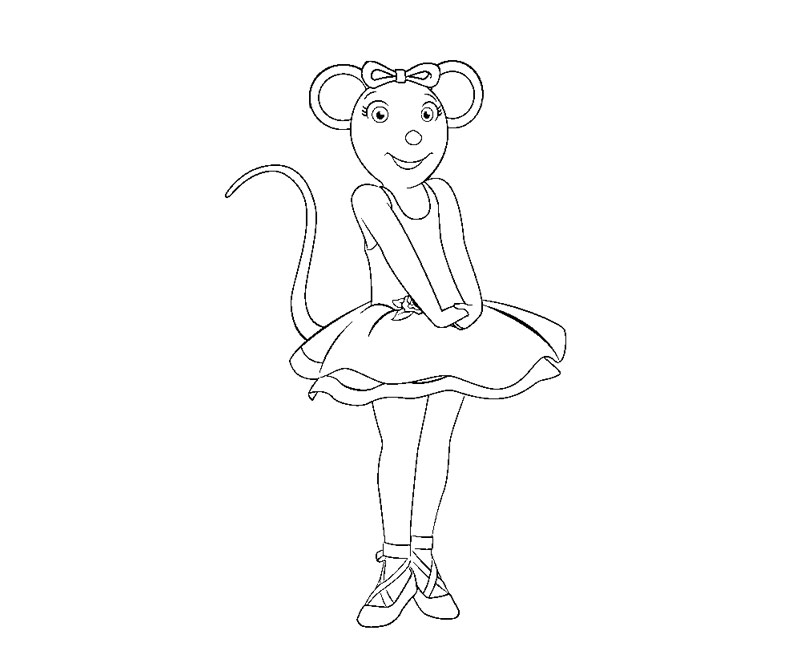 Angelina Ballerina Drawing at GetDrawings.com | Free for personal ...