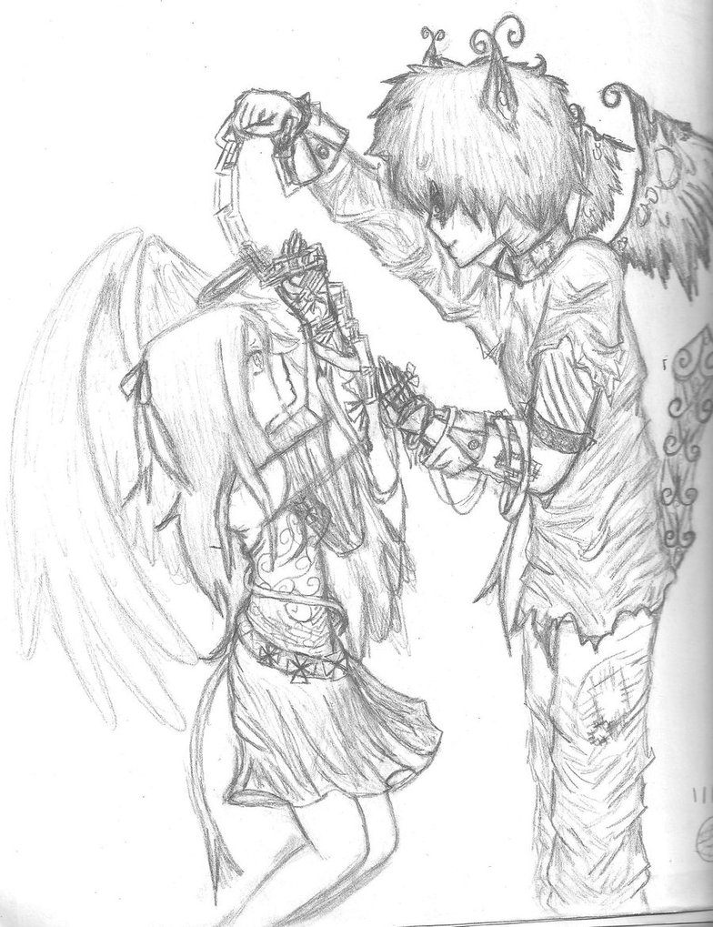 784x1019 Another Angel And Demon Love By Daydreamerxforxlife
