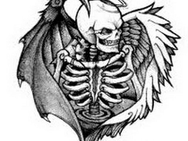 640x480 Demons And Angels Tattoo Angel And Demon Tattoos
