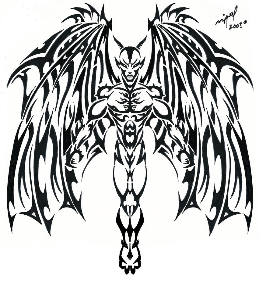 851x938 Devil Tattoo By Midnite7175 On Angels And Demons