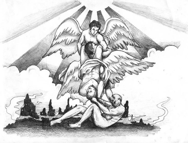 736x561 Angels And Demons Tattoo Designs Elaxsir