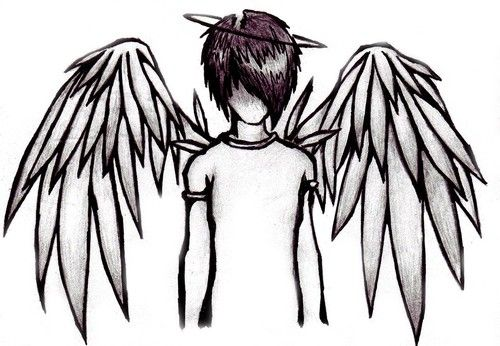 500x346 Pictures Drawings Of Boy Angels,