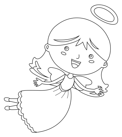 400x450 Super fun and Easy Steps for Kids to Draw the Cutest Angel Ever