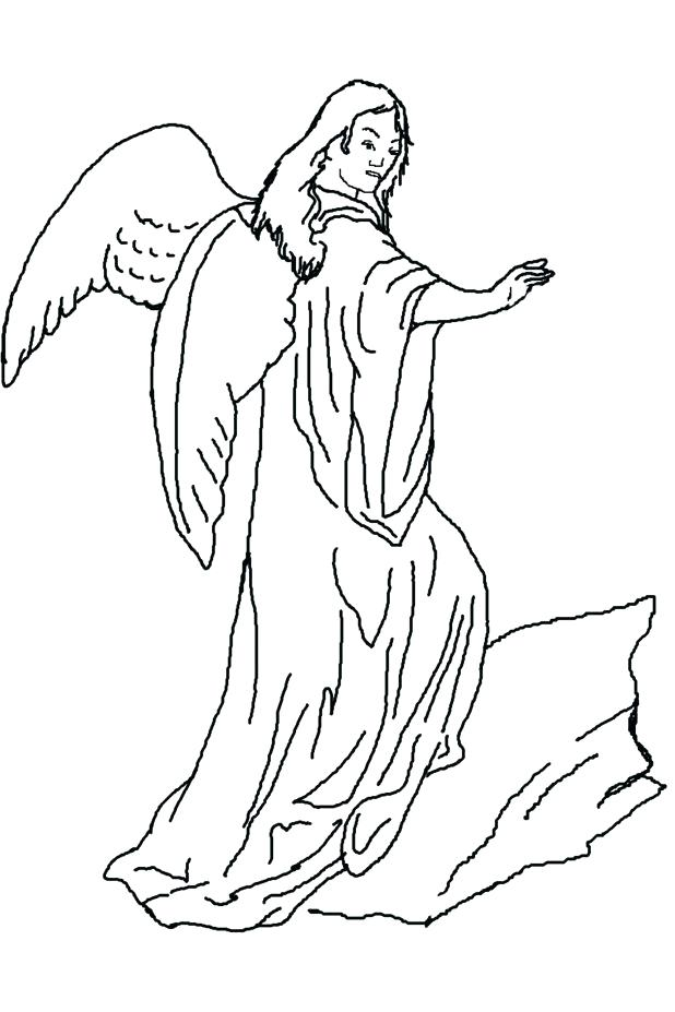 618x927 Guardian Angel Coloring Pages Blue Angels Page Kids