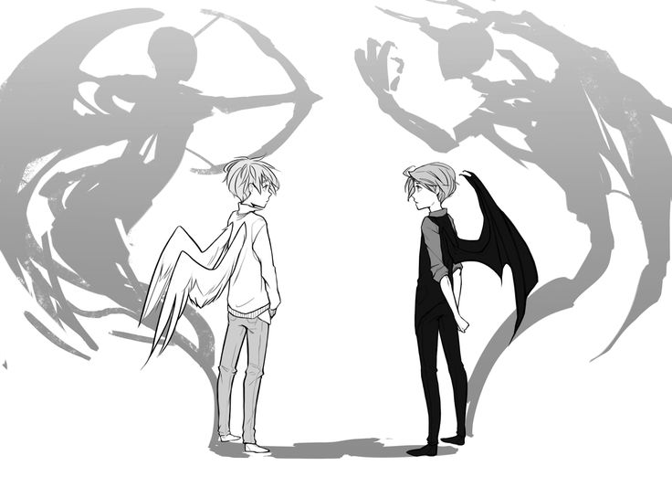 736x533 Drawn Angel Kid