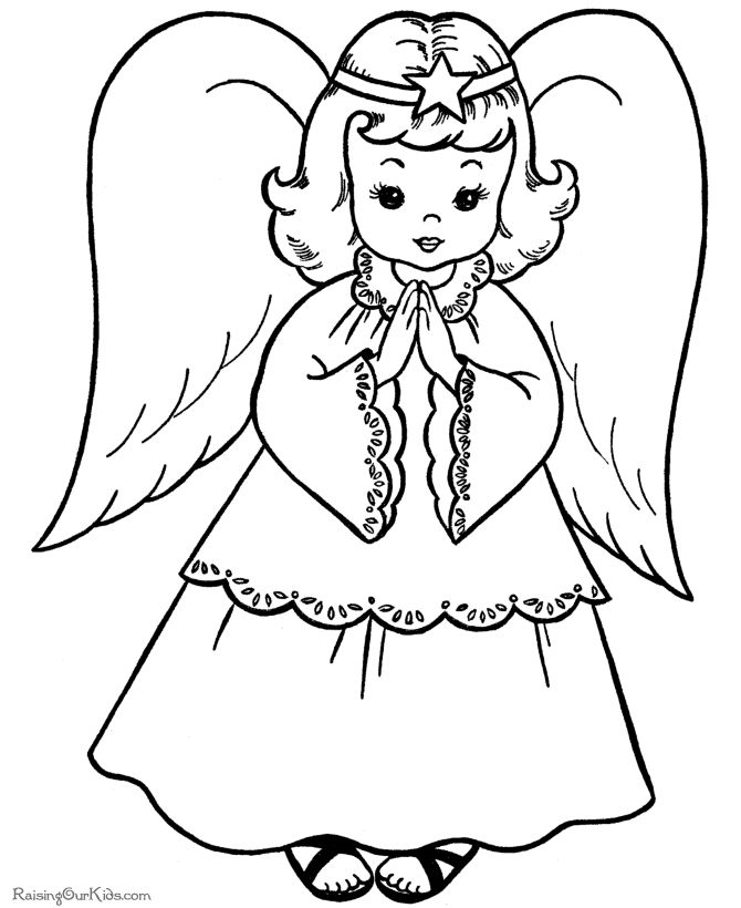 670x820 Free Easter Coloring Printables Angels Pictures