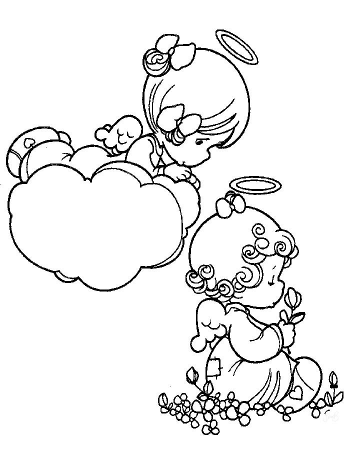 690x922 Free Precious Moments Angel Coloring Pages Coloring Page For Kids