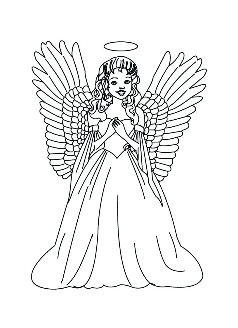 800x1100 Coloring Coloring Pages Of Angels Angel For Kids And Adults Free