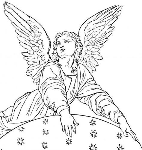Angels Line Drawing