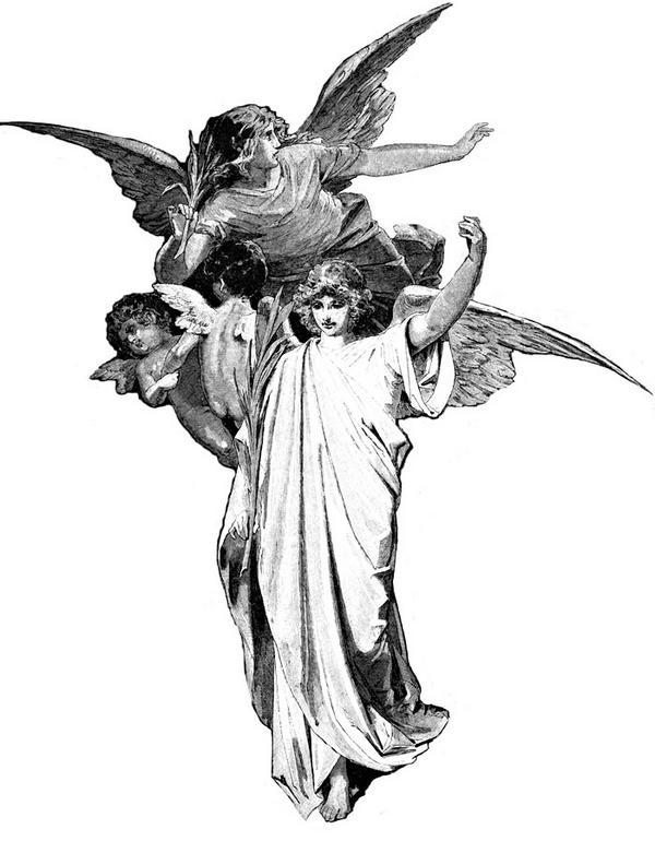 600x770 Biblical Angels Black And White Art On Angel