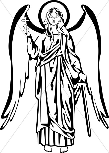 438x612 Black And White Angel Picture Angel Clipart