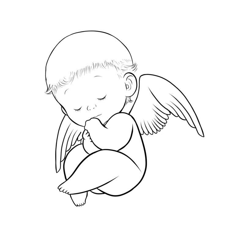 736x736 Drawn Boy Angel
