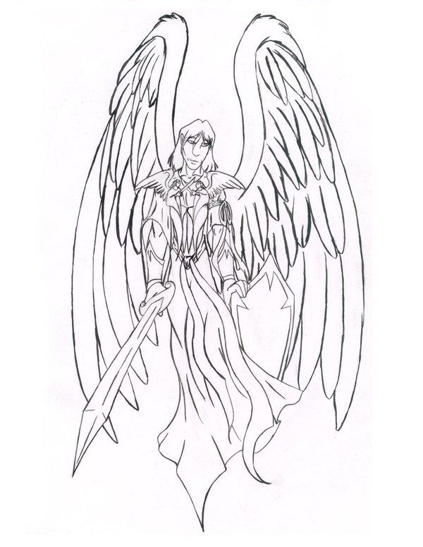 600x776 Guardian Angel Design By Necrochildk