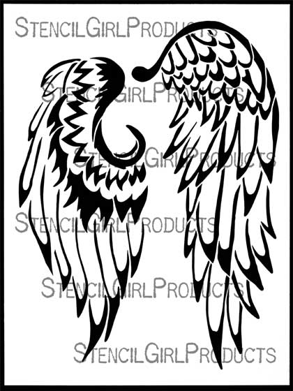 photo relating to Angel Wing Stencil Printable called Angels Wings Drawing at  Absolutely free for specific