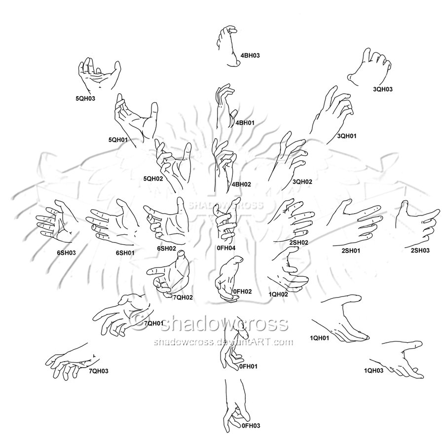900x900 Hand Study Angle Chart 8 By Shadowcross