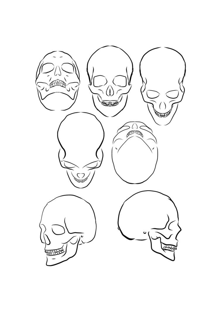 752x1063 Skull Angle By Pharion