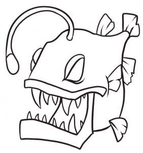 282x302 How To Draw An Anglerfish Step 7 Art How To Draw