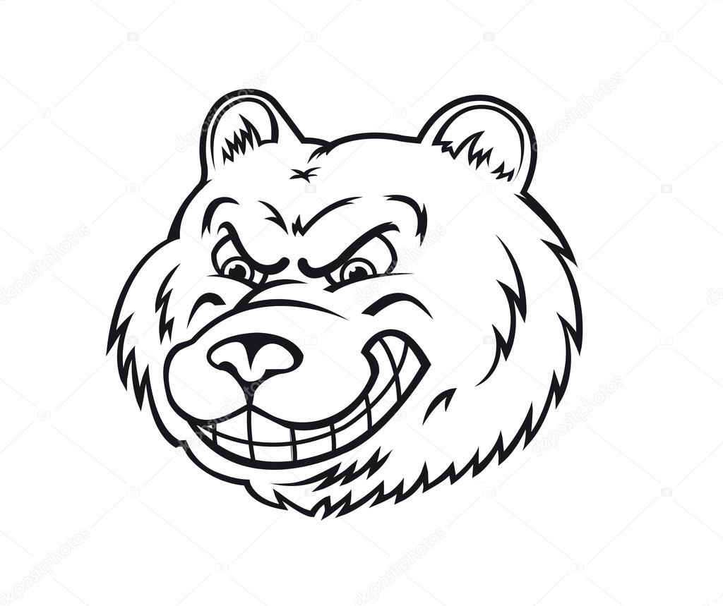 1024x859 Angry Bear Stock Vector Nihongo
