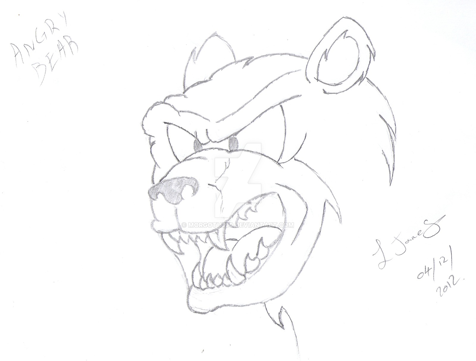 1600x1213 Cartoon Angry Bear By Morgoth390