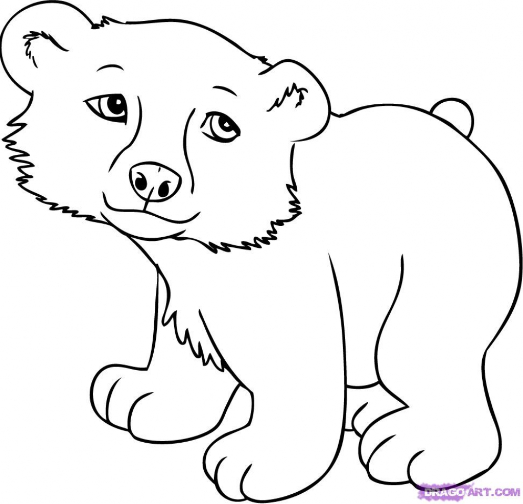 1024x986 Cartoon Bear Drawings How To Draw An Angry Bear Cartoon (Stepstep