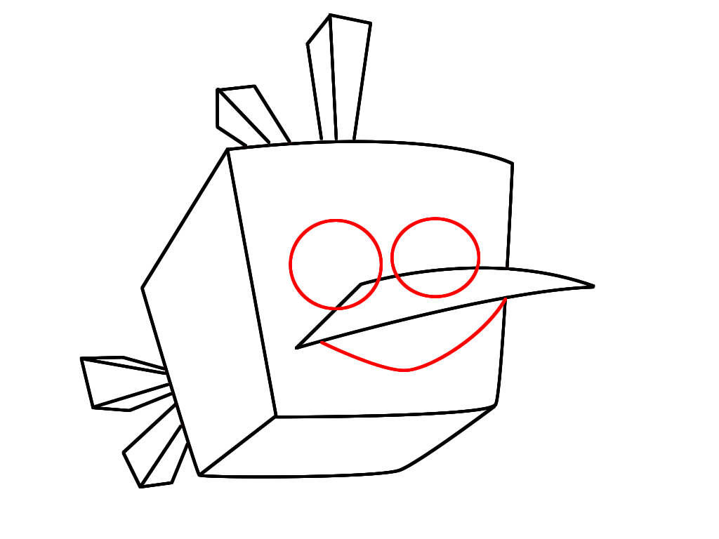 1024x768 How To Draw Ice Bird From Angry Birds Space