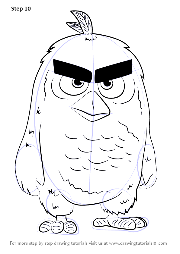 596x843 Learn How To Draw Red From The Angry Birds Movie (The Angry Birds