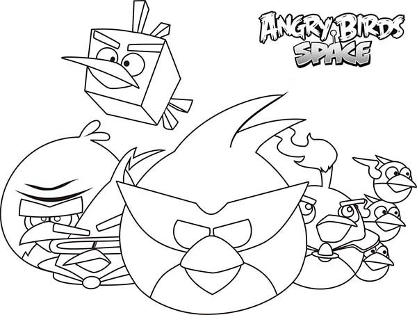 600x453 How To Draw Angry Birds Space Characters Coloring Pages Batch