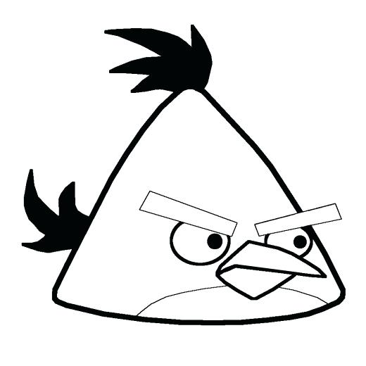 520x520 Yellow Angry Bird Coloring Page Newsenergy.club