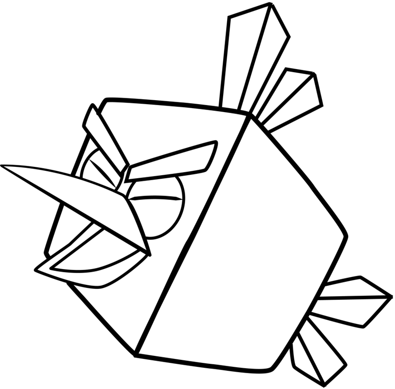 800x788 How To Draw Ice Bird From Angry Birds Space With Easy Step By