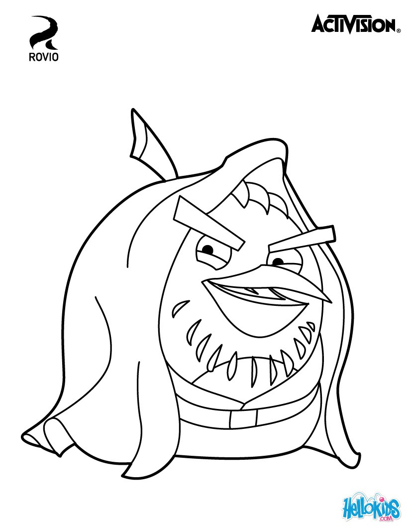 820x1060 Angry Birds Star Wars Coloring Pages