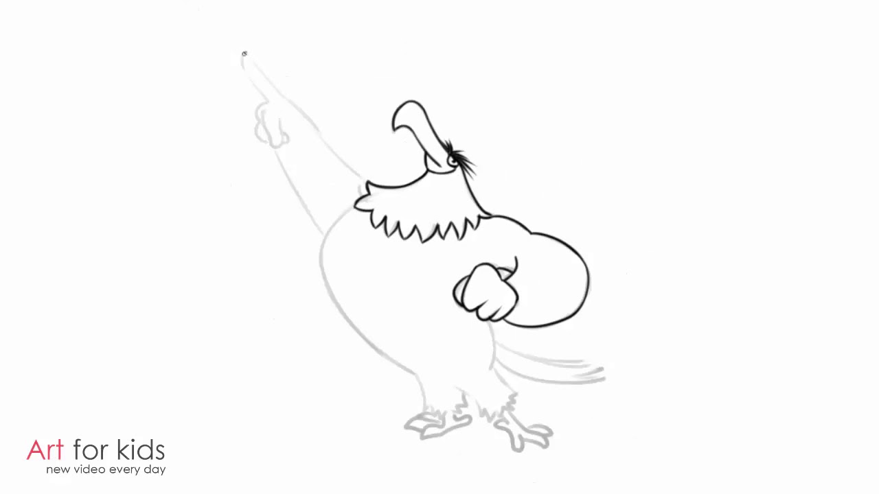 1280x720 How To Draw Mighty Eagle From Angry Birds Movies Step By Step