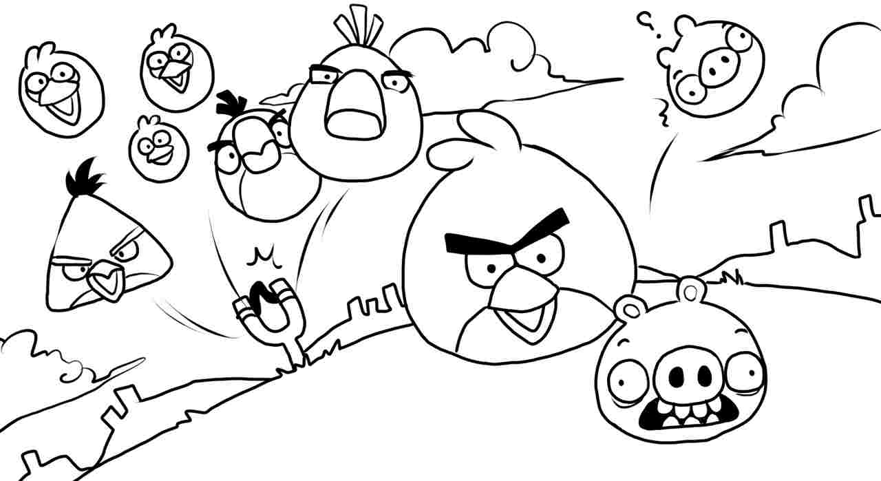 1280x699 Angry Birds Coloring Pages For Kids Printable To Pretty Print