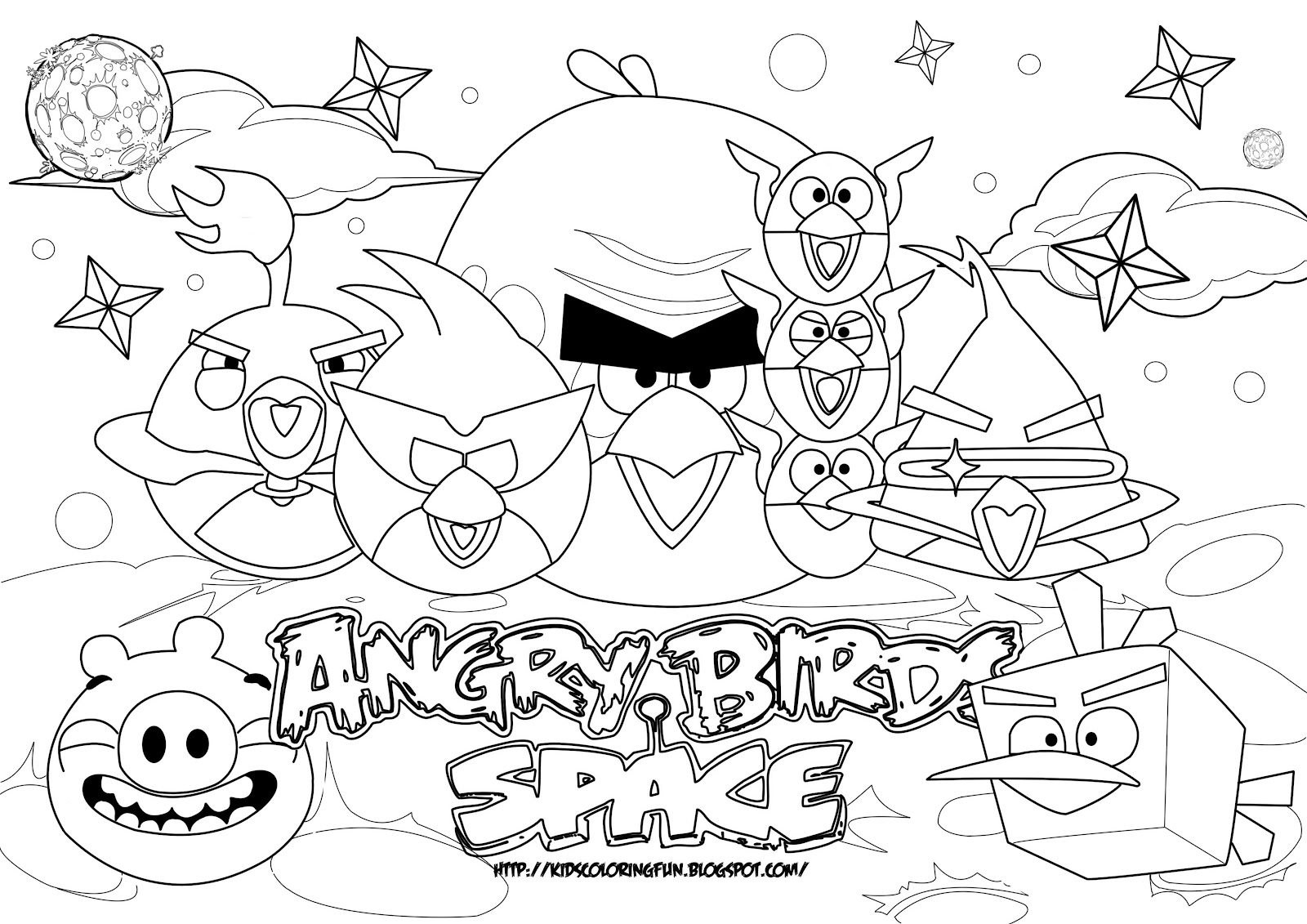 1600x1131 Angry Birds Space Coloring Pages