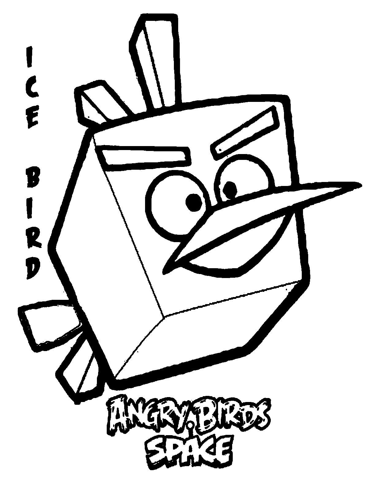 1200x1600 Angry Birds Space Ice Bird Coloring Pages Free