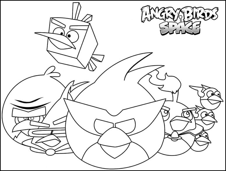 775x586 Angry Birds Space Coloring Page Coloring Page For Creativity