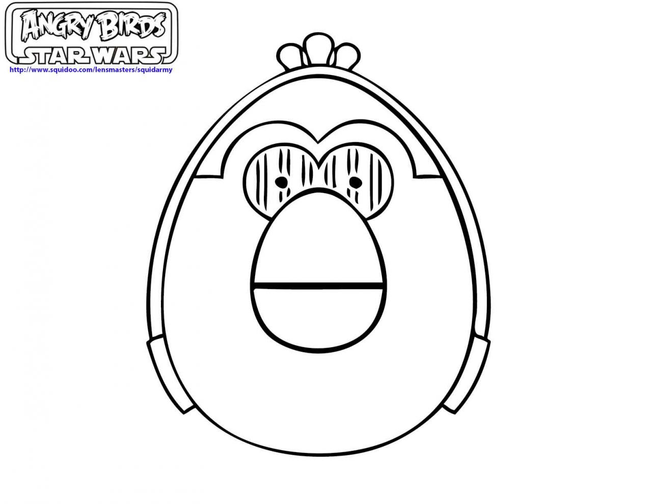 1280x989 Angry Birds Star Wars Coloring Pages Coloring Page For Kids Kids