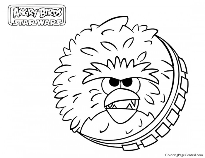 700x541 Angry Birds Star Wars Chewbacca 01 Coloring Page Coloring Page