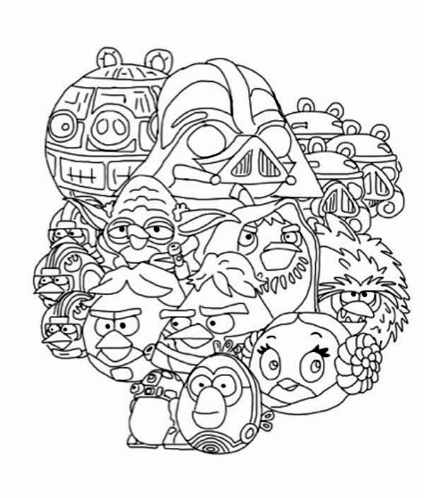 600x706 All Angry Birds Star Wars Characters Coloring Pages Batch Coloring