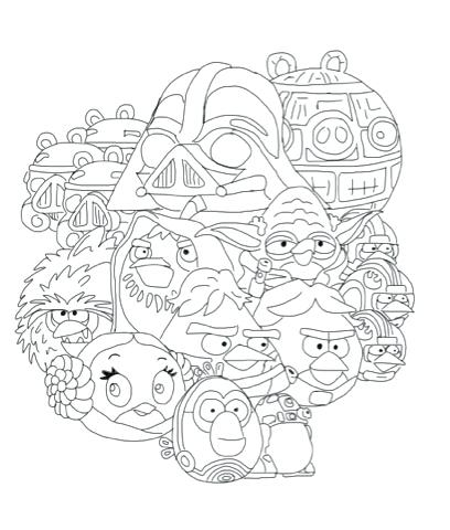 408x480 Coloring Pages Angry Birds Star Wars And More Of These Coloring
