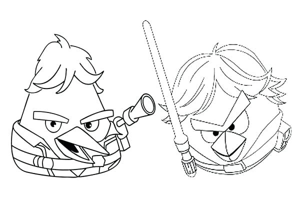 600x400 Star Wars Angry Birds Coloring Pages Drawing Angry Birds Star Wars