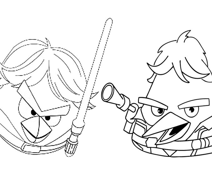 678x567 Angry Birds Star Wars Coloring Book Pages