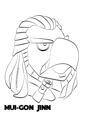 300x388 Angry Birds Star Wars Coloring Pages