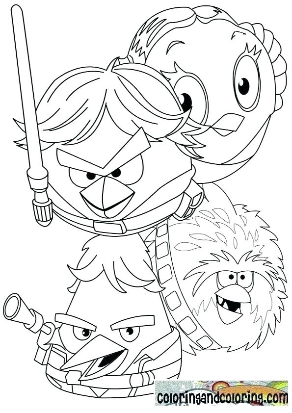 595x842 Angry Birds Star Wars Coloring Pages Angry Birds Star Wars