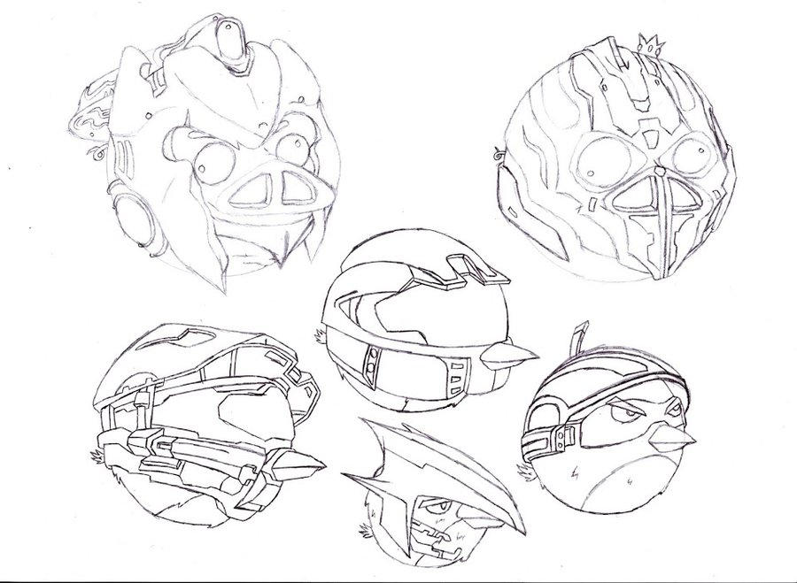 900x659 Halo Angry Birds Concept Art (2) By Nova3712