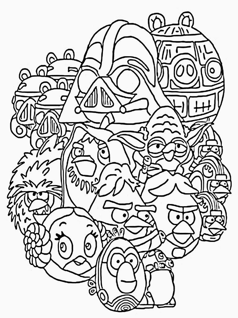 768x1024 Angry Bird Star Wars Coloring Page Cool Birds 2